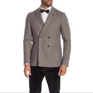 NWT Scotch & Soda Stripe Double Breasted Blazer